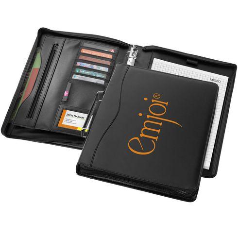 Ebony A4 portfolio met ritssluiting en handvat