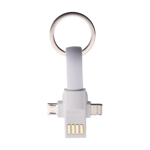 Connection 3-in-1 sleutelhanger met oplaadkabel