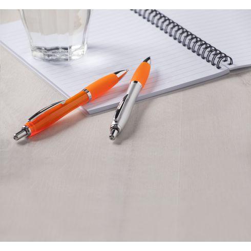 Kunststof pen Athos® met gekleurde rubberen grip
