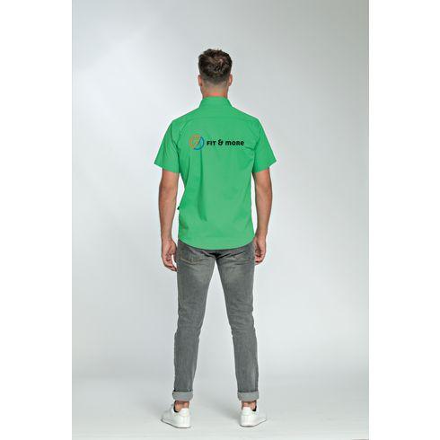 L&S Poplin Shortsleeve Shirt herenbloes