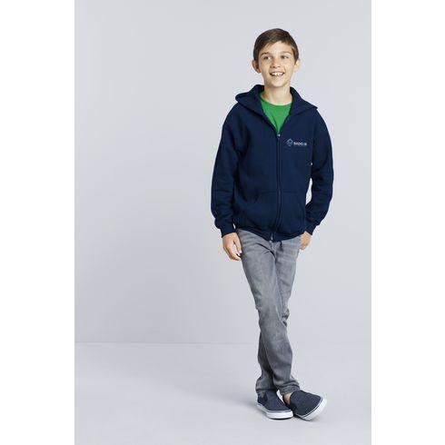 Gildan Heavyblend Hooded Full-Zip Sweater kids jack