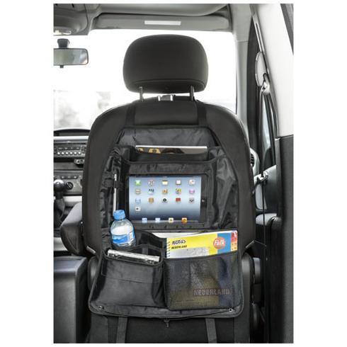 Back seat organizer met tabletcompartiment