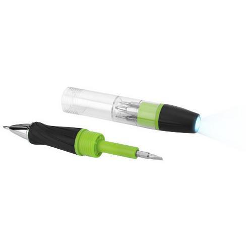 King schroevendraaier met 7 functies en pen met LED lamp