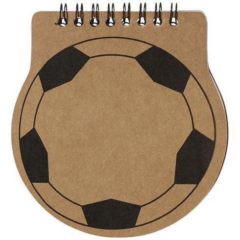 Score notitieboek in vorm van voetbal