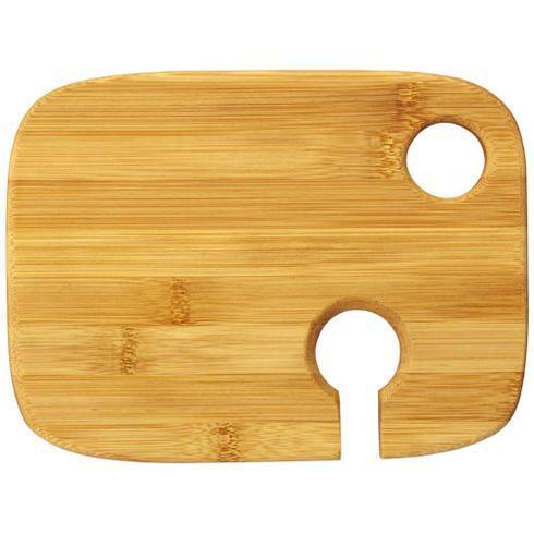Mill houten hapjesbord met wijnglashouder