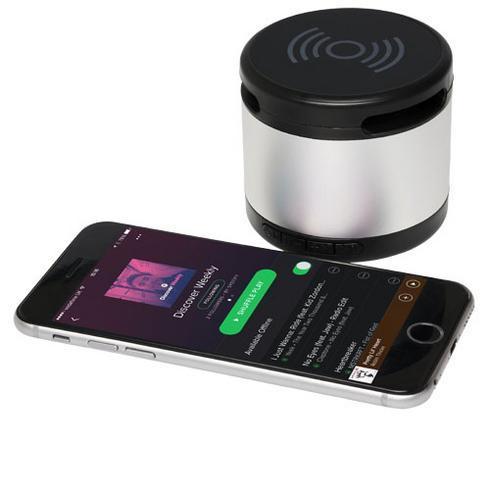 Jones metalen Bluetooth®  speaker met draadloos oplaadstation
