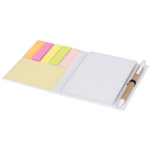 Colours combinatie notitieblok met sticky notes en pen