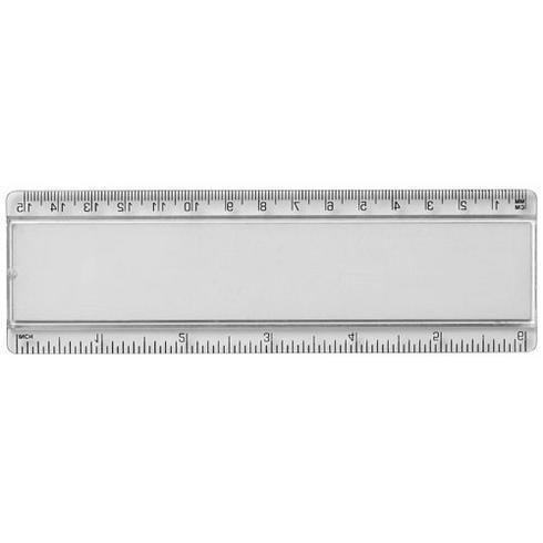 Ellison 15 cm kunststof liniaal met papieren inlay