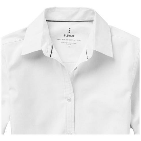 Vaillant oxford dames blouse met lange mouwen