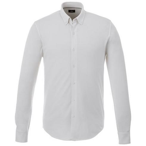 Bigelow piqué heren overhemd met lange mouwen