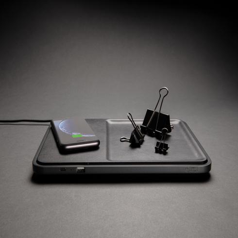 Swiss Peak luxe desk organizer met 5W draadloze oplader