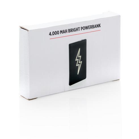 Light up logo 4.000 mAh powerbank